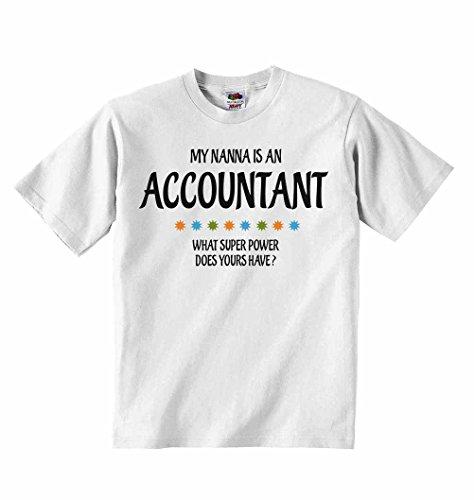 My nanna è un accountant quali super power tuoi sono?–t-shirt per bambini con scritta personalizzata tee abbigliamento unisex t-shirt–bianco–4–5anni