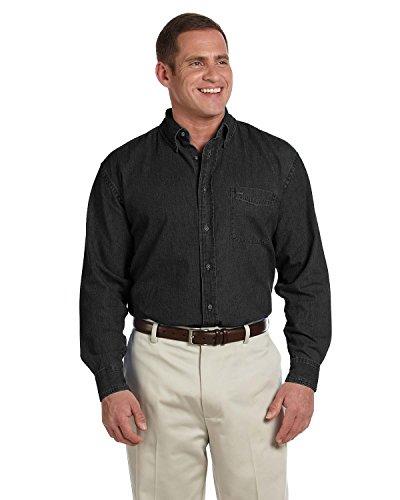 HARRITON Herren Groß Kurzarm Hemd Denim (m550t) Schwarz ausgewaschen