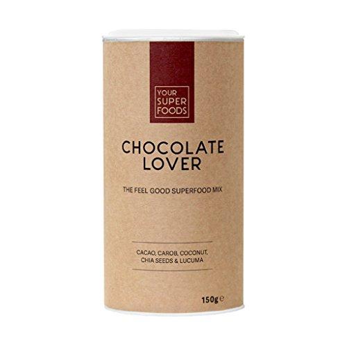 Mischung Pulver Smoothie Green (Your Superfoods – Chocolate Lover Bio Vegan Superfood Mix Mischung Trinkpulver aus Kakao, Carob, Kokos, Chia Samen und Lucuma – die gesunde Schokolade)