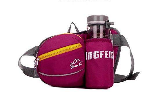 Zll/tragbar Tasche Lady Outdoor kleinen Brüste für Herren Casual fließendem Wasser Flasche Bag Sport Taschen rose red