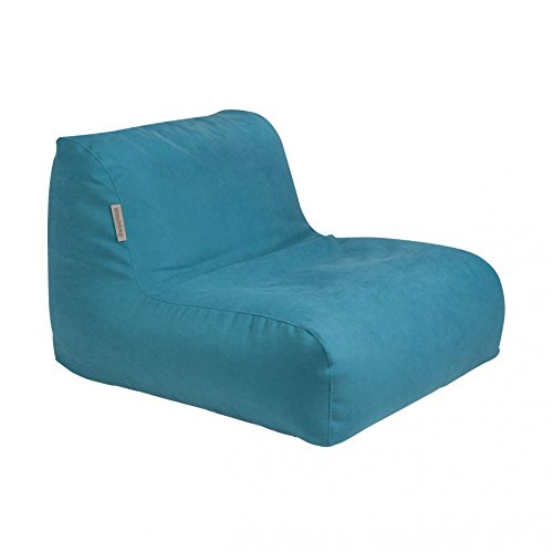 Pushbag Sitzsack Chair aus Soft (Polyester), 90x120x35cm, 450l, petrol