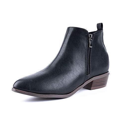 Botines Mujer Tacon Chelsea Boots Cremallera