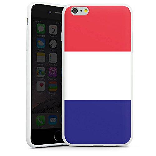Apple iPhone X Silikon Hülle Case Schutzhülle Frankreich Flagge Fußball Silikon Case weiß