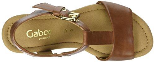 Gabor Shoes Comfort, Sandali con Zeppa Donna Marrone (peanutKorkFl/Jute)