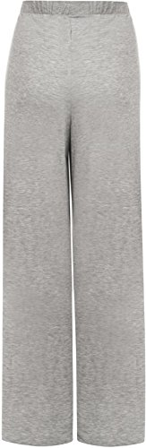 WearAll - Damen Übergröße palazzo weitem bein schlaghosen gummizug - 7 Farben - Größe 44-54 Grau