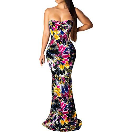 Cardith Abendkleider Damen Hoch Tube topTaille Etuikleid Laternenhülse Bleistiftrock Vintage Etuikleid Elegant -