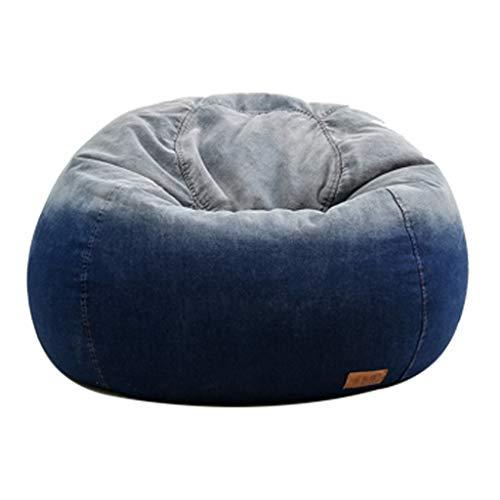 Canapés Pouf Poire De Haricots De Cowboy Bean Bag De Haricots De Jardin Géants Chaises Pouf Poire De Haricots Moelleux Portatifs (Color : Blue, Size : 35.4 * 19.7in)