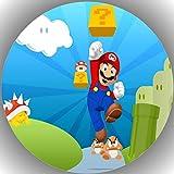Fondant Tortenaufleger Tortenbild Geburtstag Super Mario P2