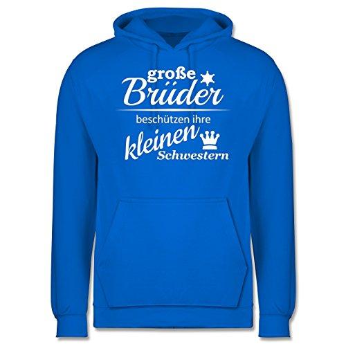 Sprüche - Große Brüder - Männer Premium Kapuzenpullover / Hoodie Himmelblau