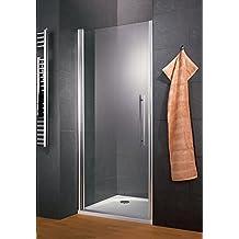 c467b31b27caf6 Schulte porte de douche pivotante, système autolevant, sans silicone, verre  transparent, profilé
