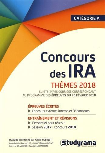 Concours des IRA Thèmes 2018