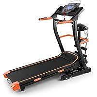 Klarfit Pacemaker FX5 • caminadora • cinta de correr • 1.5 hp • 2 - 12 km/h • computadora de entrenamiento • 12 programas • inclinación: 2% - 12% • altavoz integrado • plegable • negro-naranja
