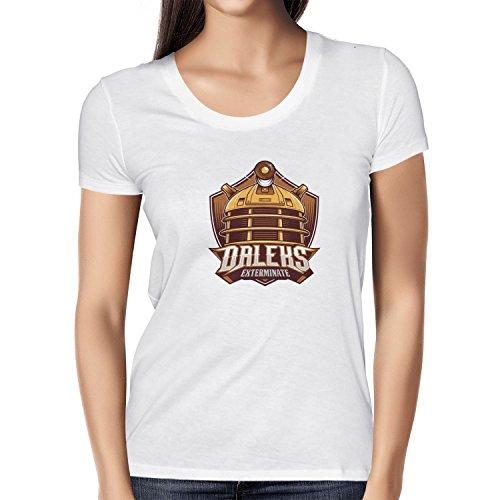 NERDO - Daleks Exterminate - Damen T-Shirt Weiß