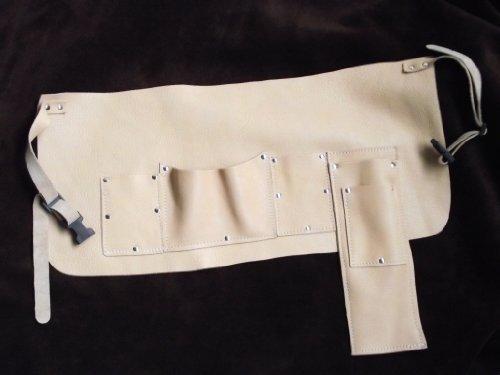 Echt Leder Imkergürtel, Werkzeuggürtel mit 5 Taschen für Besen - Wabenhebe - Stockmeissel und...