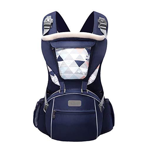 TLTLYEBD 3-in-1 Dark Blue Babytrage, Ergonomische Babytrage Für Männer, Multifunktionsspeicherfunktion - Four Seasons Universal (≤15kg, 3-36 Monate)
