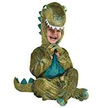 amscan 9904766 Baby Dinosaur Hooded Jumpsuit Costume, 12-24 Months-1 Pc