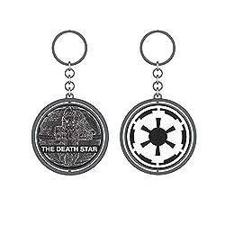 Star Wars Schlüsselanhänger Todesstern Imperium Logo drehbar 10cm Metall