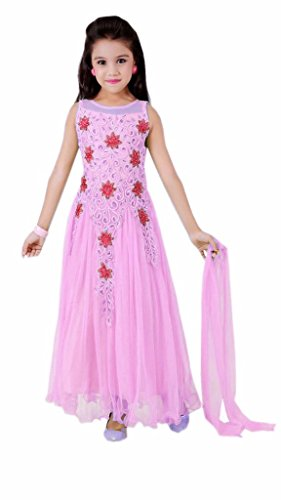 New Arrival Fancy & Beautiful Partywear Baby Girls Gown Solid By Ramdev Emperio (08-11 Yrs) (Semi_Stiched)