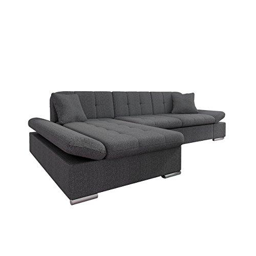 Mirjan24  Ecksofa Malwi mit Regulierbare Armlehnen Design Eckcouch mit Schlaffunktion und Bettkasten, L-Form Sofa vom Hersteller, Couch Wohnlandschaft (Boss 12, Ecksofa: Links) (Big Sofa)