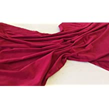 Pre corte 1m pieza de color rojo algodón de colores costura de terciopelo tela–240gsm–112cms de ancho: por metro