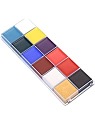Frcolor 12 Couleurs Flash Case Tattoo Face Body Paint Halloween Party Fancy Oil Painting Art Beauty Fancy Make Up Set