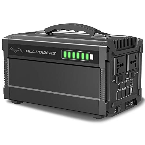 ALLPOWERS 288Wh/78000mAh Portable Solar Generator Power Inverter Power Station Camping Emergency Power Supply with DC/AC Inverter, Charged by Solar Panel/Wall Outlet for Camping, Emergency Backup