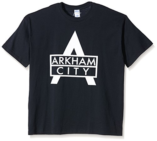 Coole-Fun-T-Shirts T-Shirt Arkham City - Batman, schwarz, L, FT179 (Batman Arkham City Shirt)