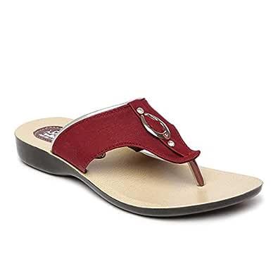 Paragon Women's Maroon Fashion Slipper-4 UK/India (37 EU)(PU7097L)