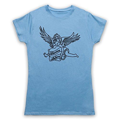 Inspiriert durch True Romance Tattoo Clarence Alabama Unofficial Damen T-Shirt Hellblau