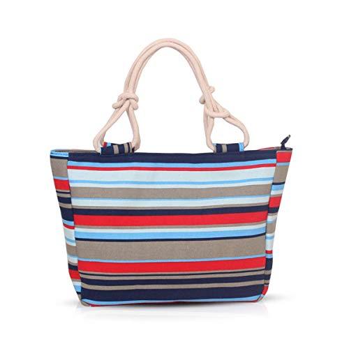 NICOLE & DORIS Bolsa de Playa de Lona Bolso de Mano para Mujer/Bolso de Hombro Bolsa de Playa Grande para Mujer Bolso Viaje