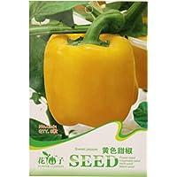 Semi Cina Organic Wonder giallo dolce Campana Heirloom pepe, confezione originale, 8 semi / Pack, ortaggi biologici C061