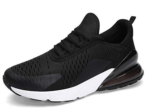 GNEDIAE Uomo Max 270 a Collo Basso Scarpe da Ginnastica Scarpe da Corsa Sport Atletico Palestra Running Sneaker Nero 44 EU