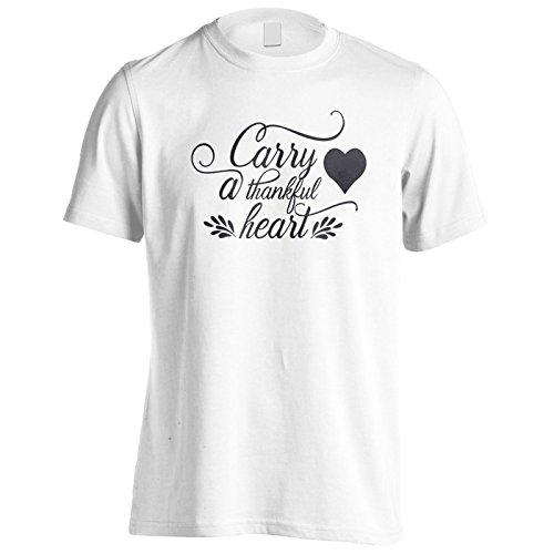 Ein Dankbares Herz Tragen Herren T-Shirt t514m (Dankbar Tragen)