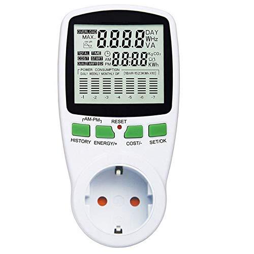 NOBGP 2 Pcs Digital Power Meter, Energiemonitor Stromverbrauch Stromverbrauchsüberwachung, Kostenrechner Watt Voltage Amp Meter mit Überlastschutz