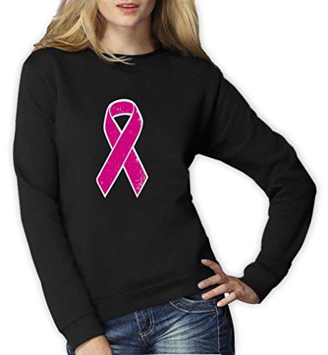 nk Pullover im Zeichen der Solidarität Frauen Sweatshirt Large Schwarz (Breast Cancer Awareness Apparel)