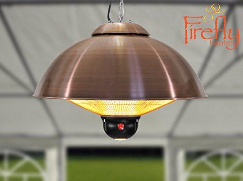 2.100 Watt FireflyTM Deckenheizstrahler mit 3 Leistungsstufen und Fernbedienung, kupferfarben