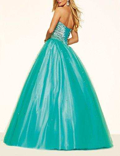 Bridal_Mall - Robe - Peplum - Femme Turquoise