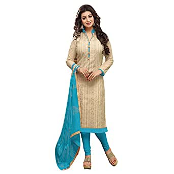 Mrinalika Fashion Women's Collection Cotton Dress Material Unstiched Crepe Printed Multicoloured Salwar Suit, Drd49016, off-White