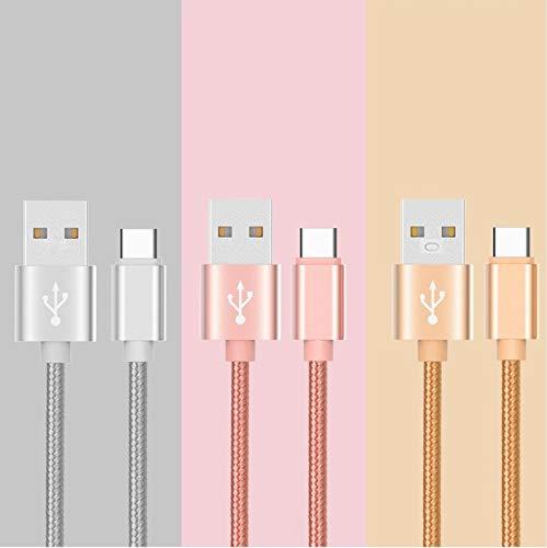 Shot Case – Metallkabel Typ C für Nintendo Switch/USB-Ladegerät, umkehrbar, 1 m Nylon, Farbe goldfarben