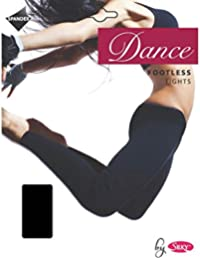 Silky Girls Childrens Dance Footless Tights - Black Age 11-13
