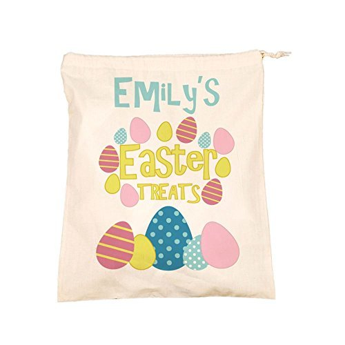Treats Drawstring Cotton Storage Bag Childs Name Keepsake Present by Personalised Gift Ideas ()