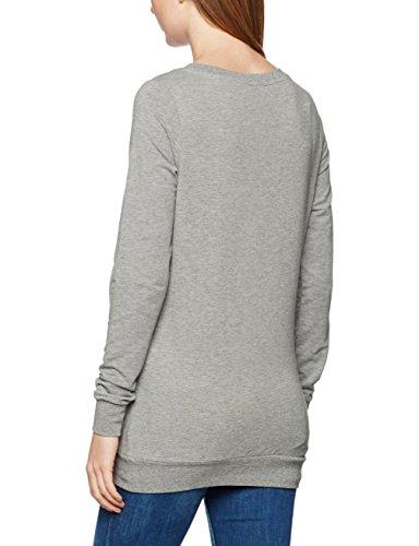 MAMALICIOUS Damen Langarmshirt Mlsign L/S Sweatshirt Grau (Light Grey Melange Print:Front Print)