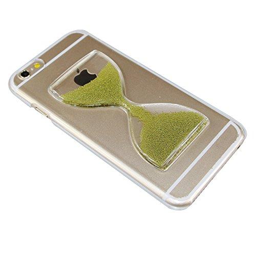 iPhone 6S Plus Hülle,Crystal Hard Case Hülle für iPhone 6 6S Plus,EMAXELERS Kreativ Rose Sanduhr Muster Liquid Fließen Flüssig Schwimmend Stern Hülle Tasche Handyhülle Etui Tasche Case Cover für iPhon Hourglass 13