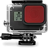 Rhodesy Red Filter pour Rhodesy GoPro HERO 7(Seulement noir) HERO 2018 Hero 6 Hero 5 Housse de protection étanche