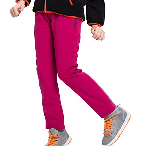 [ Kinder Wanderhose ] Herbst Winter Outdoorhose Jungen/Mädchen Softshell Hose lange Wanderhose wasserabweisend atmungsaktiv elastisch