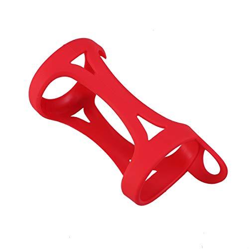 UKCOCO Bluetooth-Lautsprechertasche aus Silikon stoßfestem Tragekoffer aus Silikon Aufbewahrungstasche Reise-Schutzhülle Tasche (rot)
