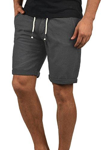 Blend Lias Herren Leinenshorts kurze Leinenhose Bermuda Regular Fit, Größe:M, Farbe:Phantom Grey (70010) (Leinenhose Klassische)