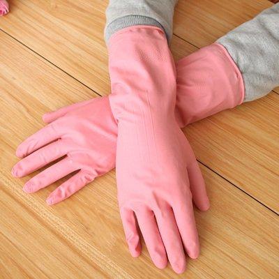 Möbel täglichen Bedarfs WWYXHQC Küche inländischen Reinigung Latex Handschuhe wasserdicht strapazierfähiges Waschen seine Kleider Gummihandschuhe, M, 6901 Teller Rosa (Strapazierfähiger Latex-handschuhe)
