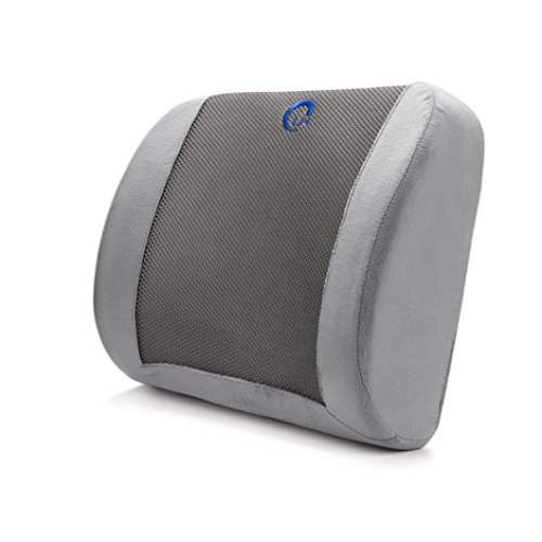 Car Back Cushion Pillow - Kingwo Memory Foam Waist Pillow Thickening 3d Ventilative Mesh Lumbar Support Cushion Back Cushion ,Alleviates Lower Back Pain Waist Pillow Super soft wool fabrics + breathable mesh (grayblak)