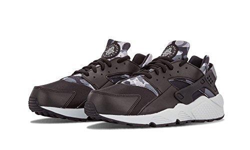 Nike Damen Wmns Air Huarache Run Print Turnschuhe, Black (Schwarz/Grau), 36.5 EU (Grau Air Schwarz)